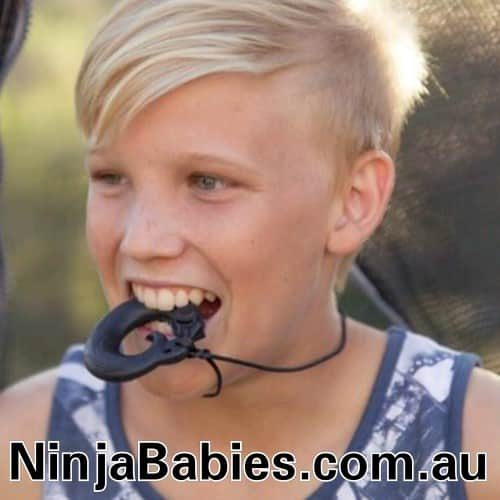 ninja babies fierce phoenix chew pendant for boys and girls