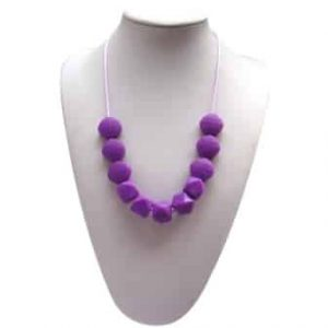This stylish purple Funk Yes design features six square and five 10-sided shaped soft, silicone beads. A unisex sensory resource, chew necklace for anxiety, chewy necklace for Autism, chew necklace for ADHD. A great educational tool to fill your sensory tank. A breakaway clasp for extra safety. Unisex sensory resource for people with special needs and/or chew their fingernails, chew their shirt collar. Chew on our healthy alternatives and order now www.ninjababies.com.au