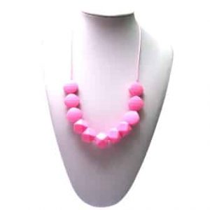 This stylish pink Funk Yes design features six square and five 10-sided shaped soft, silicone beads. A unisex sensory resource, chew necklace for anxiety, chewy necklace for Autism, chew necklace for ADHD. A great educational tool to fill your sensory tank. A breakaway clasp for extra safety. Unisex sensory resource for people with special needs and/or chew their fingernails, chew their shirt collar. Chew on our healthy alternatives and order now www.ninjababies.com.au