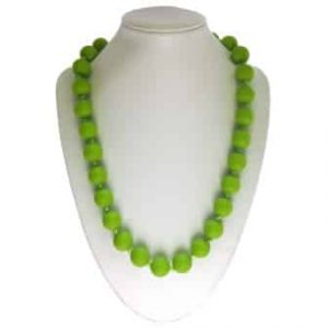 This stylish green sassy soul mate design features twenty-eight 15mm sphere shaped soft, silicone beads which are individually knotted. A chew necklace for anxiety, chewy necklace for Autism, chew necklace for ADHD. A great educational tool to fill your sensory tank. A breakaway clasp for extra safety. Unisex sensory resource for people with special needs and/or chew their fingernails, chew their shirt collar. Chew on our healthy alternatives and order now www.ninjababies.com.au