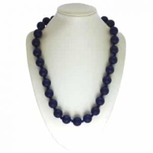This stylish deep navy sassy soul mate design features twenty-eight 15mm sphere shaped soft, silicone beads which are individually knotted. A chew necklace for anxiety, chewy necklace for Autism, chew necklace for ADHD. A great educational tool to fill your sensory tank. A breakaway clasp for extra safety. Unisex sensory resource for people with special needs and/or chew their fingernails, chew their shirt collar. Chew on our healthy alternatives and order now www.ninjababies.com.au