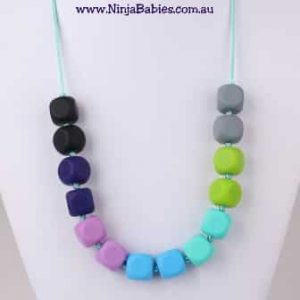ninja babies love reigns supreme self-regulation necklace, chewy necklaces