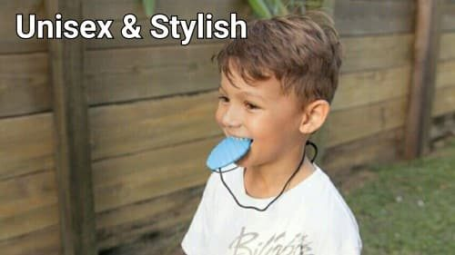ninja babies sky blue punky pineapple chew pendant, unisex and stylish